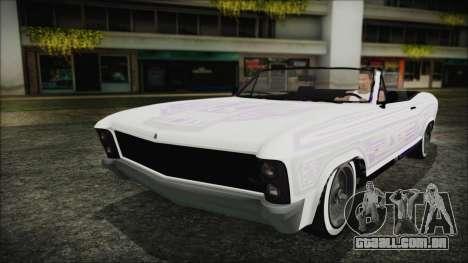 GTA 5 Albany Buccaneer Bobble Version para GTA San Andreas vista interior