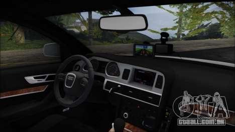 Audi A6 C6 Lithuanian Police para GTA San Andreas vista direita