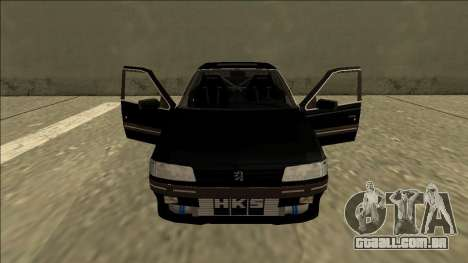 Peugeot 405 Drift para GTA San Andreas vista interior