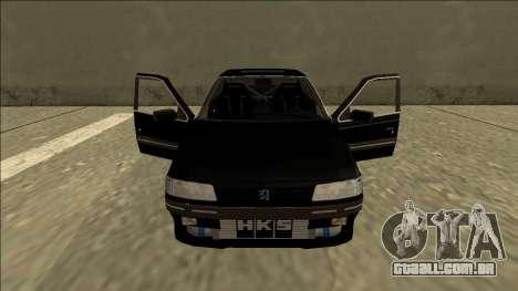 Peugeot 405 Drift para GTA San Andreas vista interior