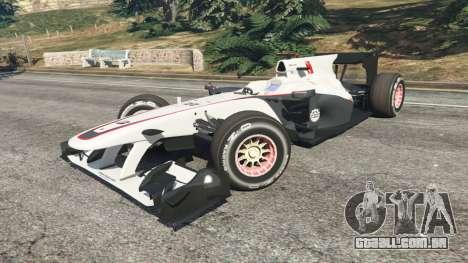 GTA 5 Sauber C29 [Pedro martínez de La Rosa] vista lateral direita