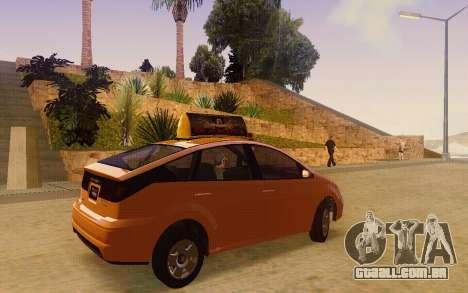 Karin Dilettante Taxi para GTA San Andreas traseira esquerda vista