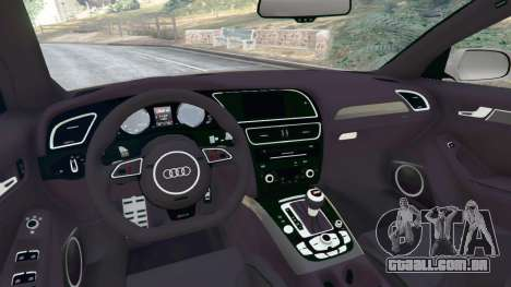 GTA 5 Audi RS4 Avant [LibertyWalk] traseira direita vista lateral