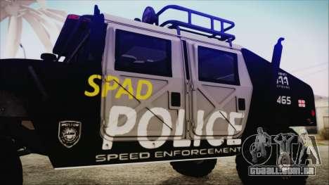 Hummer H1 Police para GTA San Andreas vista direita