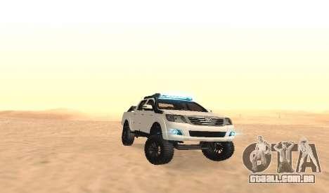 Toyota Hilux 4WD 2015 Rustica para GTA San Andreas vista traseira