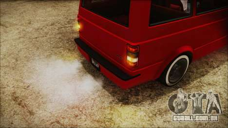 GTA 5 Declasse Moonbeam No Interior IVF para GTA San Andreas vista traseira