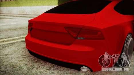 Audi A7 Messer v1 para GTA San Andreas vista traseira