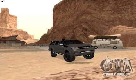 Toyota Hilux 2012 Activa barra de led para GTA San Andreas vista direita