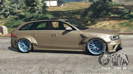 GTA 5 Audi RS4 Avant [LibertyWalk] vista lateral esquerda