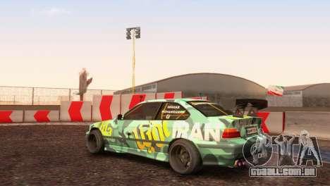 Bmw E36 Plena Sintonia para GTA San Andreas traseira esquerda vista