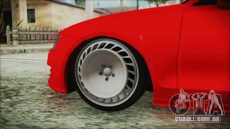 Audi A7 Messer v1 para GTA San Andreas traseira esquerda vista