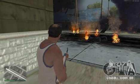 Meteors Mod para GTA San Andreas por diante tela