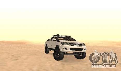 Toyota Hilux 4WD 2015 Rustica para GTA San Andreas vista interior