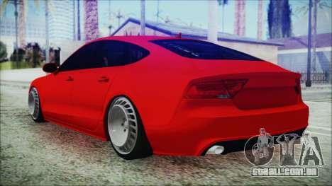 Audi A7 Messer v1 para GTA San Andreas esquerda vista