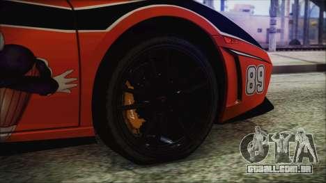 Lamborginhi Gallardo LP-570 Spyder HxH Neferpito para GTA San Andreas traseira esquerda vista