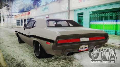 Dodge Challenger RT para GTA San Andreas esquerda vista