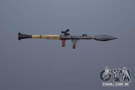 RPG-7 para GTA San Andreas terceira tela