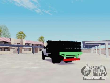 Chevrolet Silverado 3500 HD para GTA San Andreas traseira esquerda vista