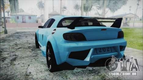 Mazda RX-8 Reventon Itasha Vocaloid Miku para GTA San Andreas esquerda vista