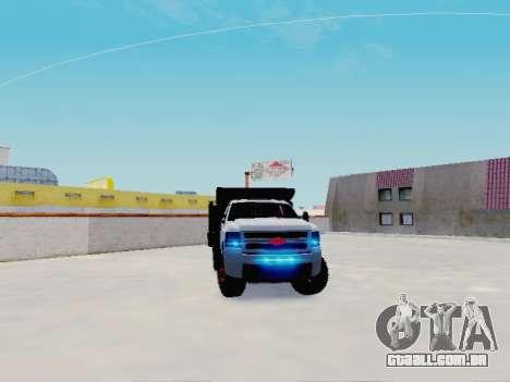 Chevrolet Silverado 3500 HD para GTA San Andreas vista direita