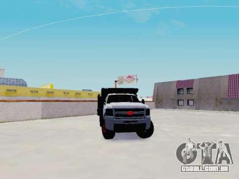 Chevrolet Silverado 3500 HD para GTA San Andreas vista traseira