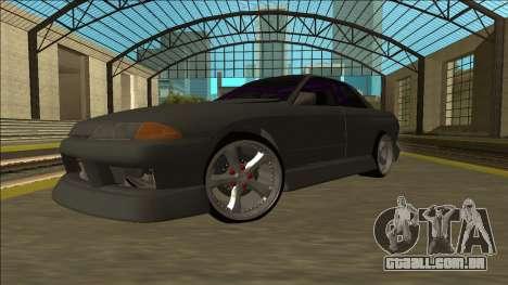 Nissan Skyline R32 Drift Sedan para GTA San Andreas vista traseira
