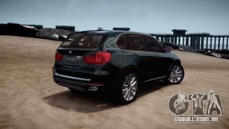 BMW X5 2015 para GTA 4 vista direita