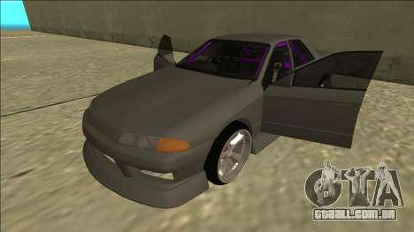 Nissan Skyline R32 Drift Sedan para GTA San Andreas interior