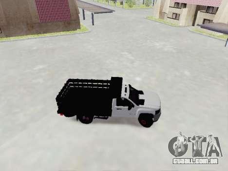 Chevrolet Silverado 3500 HD para GTA San Andreas esquerda vista