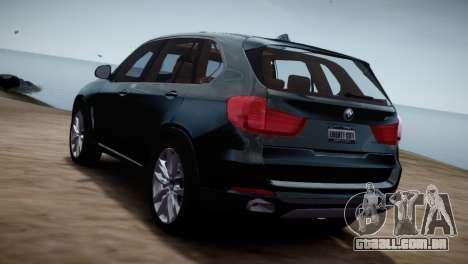 BMW X5 2015 para GTA 4 esquerda vista