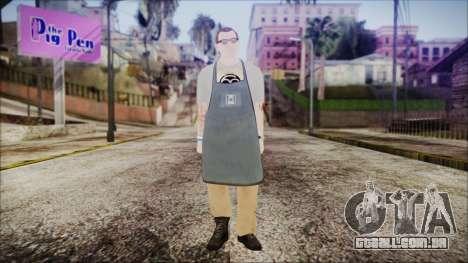 GTA 5 Ammu-Nation Seller 1 para GTA San Andreas segunda tela