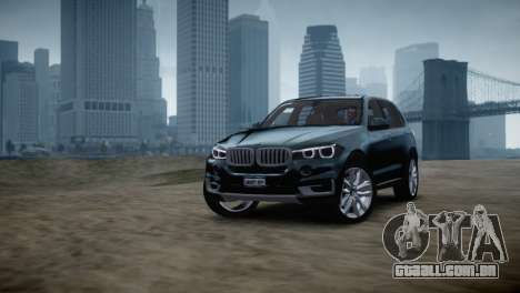 BMW X5 2015 para GTA 4 traseira esquerda vista