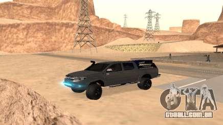 Toyota Hilux 2012 Activa barra de led para GTA San Andreas