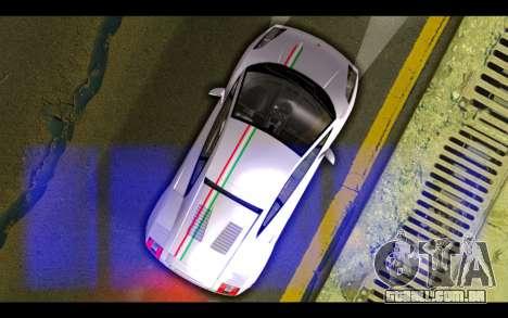 Lamborghini Gallardo para GTA San Andreas vista inferior