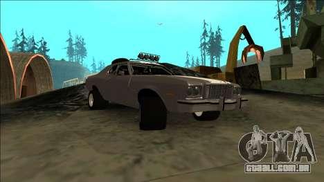 Ford Gran Torino Rusty Rebel para GTA San Andreas vista traseira