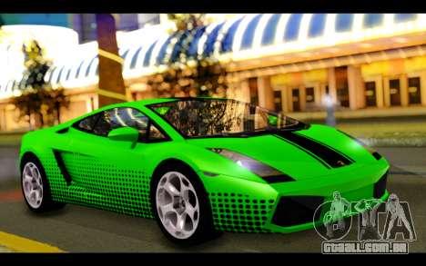 Lamborghini Gallardo para GTA San Andreas interior
