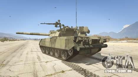 GTA 5 T-80U traseira vista lateral esquerda