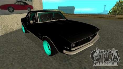 Chevrolet Camaro SS Drift para GTA San Andreas esquerda vista