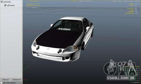 GTA 5 Honda CRX Del Sol vista lateral direita