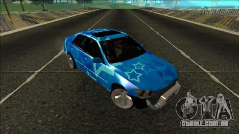 Lexus IS300 Drift Blue Star para GTA San Andreas vista interior