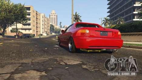 GTA 5 Honda CRX Del Sol voltar vista