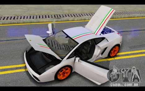 Lamborghini Gallardo para as rodas de GTA San Andreas