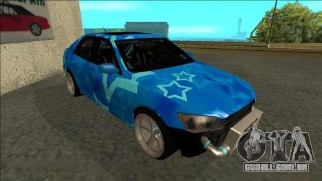 Lexus IS300 Drift Blue Star para GTA San Andreas esquerda vista