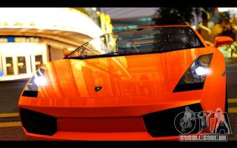 Lamborghini Gallardo para GTA San Andreas vista traseira