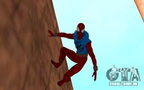 Scarlet Spider Ben Reilly por Robinosuke para GTA San Andreas segunda tela