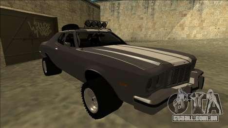 Ford Gran Torino Rusty Rebel para GTA San Andreas esquerda vista