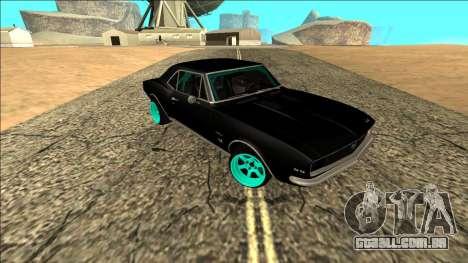 Chevrolet Camaro SS Drift para GTA San Andreas vista direita
