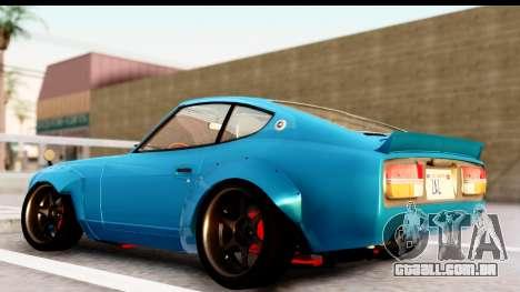 Nissan Fairlady 240Z Rocket Bunny para GTA San Andreas traseira esquerda vista