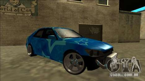 Lexus IS300 Drift Blue Star para GTA San Andreas interior