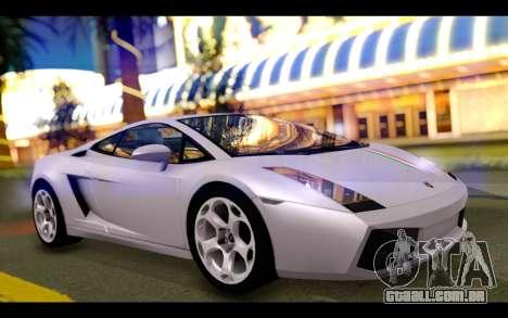 Lamborghini Gallardo para GTA San Andreas vista superior